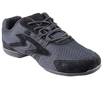 Bundle- 4 Items - Very Fine Mens Womens Unisex Practice Dance Sneaker Split Sole VFSN012 Pouch Bag Sachet Low Profile Black 11.5 M US