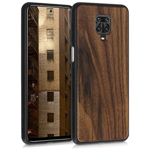 kwmobile Cover Compatibile con Xiaomi Redmi Note 9S / 9 PRO / 9 PRO Max - Custodia Rigida con Bumper in Silicone TPU Hard-Case in Marrone Scuro - Cover Protettiva