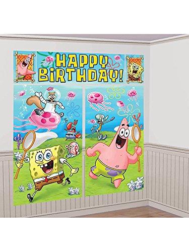amscan Spongebob Scene Setter Wall Decorating Set (Each)