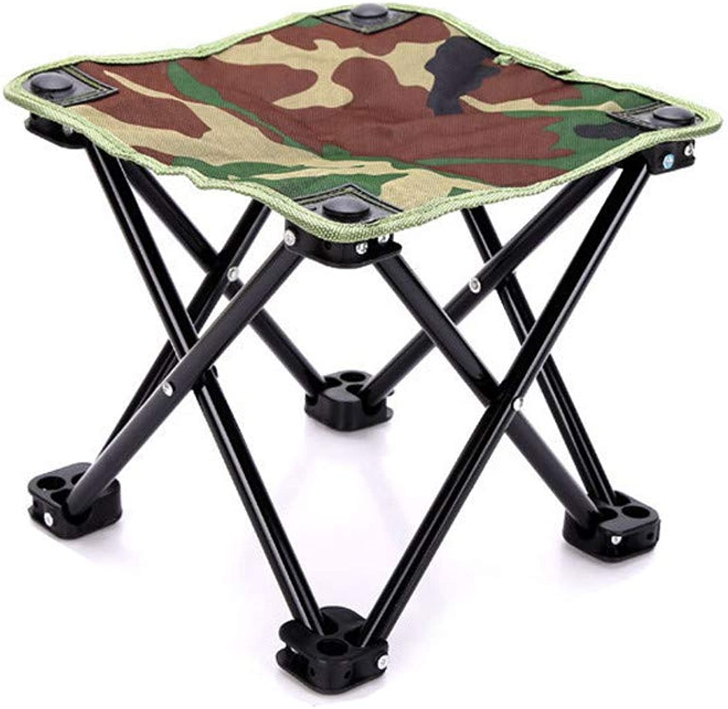 Portable Mini Folding StoolLightweight Frame Stool Chair Outdoor Camping Furniture Fishing Hiking Mountaineering + Flat Feet Stability and Carrying Bag (Maucy)