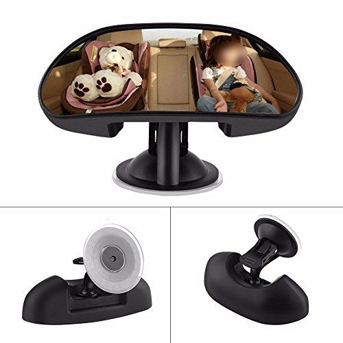 muzoct Baby Auto Spiegel universal Rear View Baby Spiegel mit Weitwinkel 360 Grad drehbar 14,7 x 5,5...