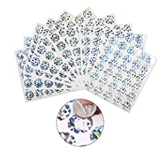 Games Color Street Business and Wedding Shower Silver and Gold 1000 Pieces Round Scratch-Off Stickers 1 Inch Scratch Off Labels for Birthday Parties
