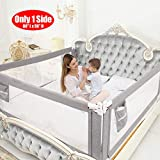"""SURPCOS Bed Rails for Toddlers - 60"""" 70"""" 80"""" Extra Long Baby Bed Rail Guard for Kids Twin, Double, Full Size Queen & King Mattress (Gray) (1Side: 80''(L) X30''(H))"""