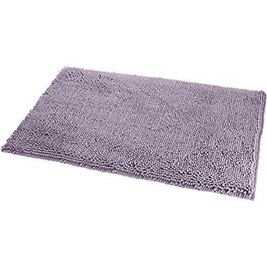 AmazonBasics Non-Slip Microfiber Shag Bath Rug, 21  x 34 , Lavender