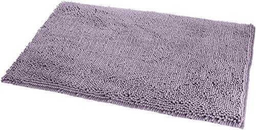 AmazonBasics - Badteppich, Hochflor, rutschfest, Mikrofaser, 53 x 86 cm, Lavendelfarben