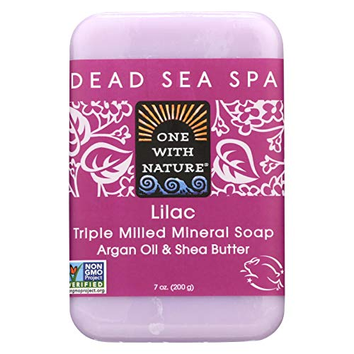 ONE WITH NATURE DEAD SEA BAR SOAP,LILAC, 7 OZ by One With Nature