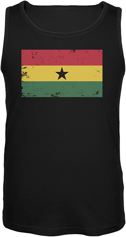 shop Old Glory - Ghana Flag Distressed Tank Top OFFer