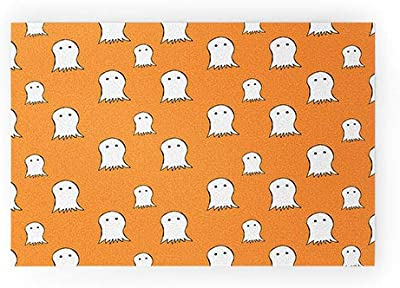 "Society6 Allyson Johnson Ghosts Welcome Mat, 30"" x 20"", Orange"