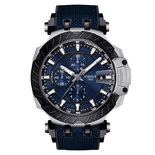 Tissot Men's T-Race Automatic T115.427.27.041.00 Silver Rubber Swiss Sport Watch