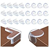 Habett Eckenschutz, 24 Stück Kantenschutz mit Kleber Stoßschutz Premium für Baby und Kinder Weich und Transparent für Tisch und Möbel Ecken