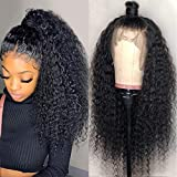 360 Lace Front Wigs Human Hair Jerry Curly Lace Front Wigs for Black Women 360 Lace Frontal Wig Pre Plucked with Baby Hair 250% Density Curly Human Hair Wigs (26 Inch, 360 Jerry Curl Lace Wig)