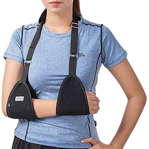 HKJD Arm Sling Shoulder Injury Brace Strap Medical Shoulder Immobilizer Triangle Fixed Lightweight Simple for Arm Broken & Dislocation