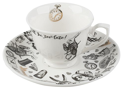 V&A Alice in Wonderland Espressotasse mit Untertasse, 100 ml (4 fl oz)