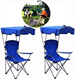 Jukkre Beach Chair Sun Shade, Beach Chair Umbrella, with Arm Rest Cup Holder Folding Ergonomic Camping Chair for Outdoor Camping, Travel, Picnic