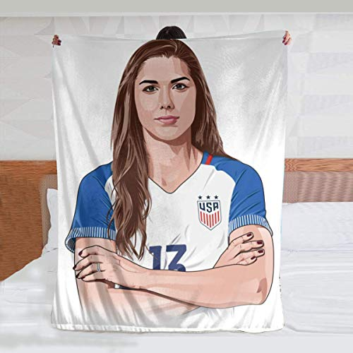 Wahom Alex Morgan Luxury Comfortable Super Soft and Fluffy Home Flannel Plush Throw Blanket to Keep Warm with (8060inch)