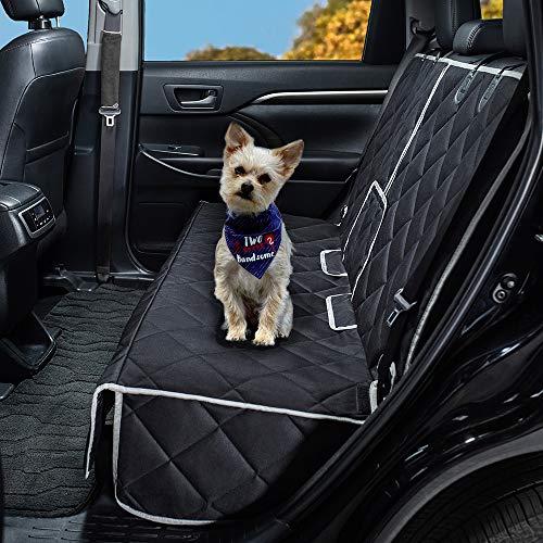 petalage Hond Stoelhoezen 100% Waterdicht Huisdier Auto Stoelhoezen Nonslip Bank Stoelhoezen Armsteun Compatibel voor Achterbank met Huisdier Stoelriemen voor Auto's Trucks & SUV's