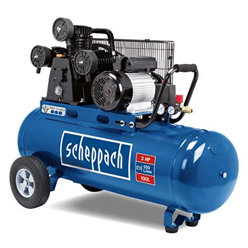 Kompressor HC550TC scheppach - 400V 50Hz 3000W | 10bar | 100L