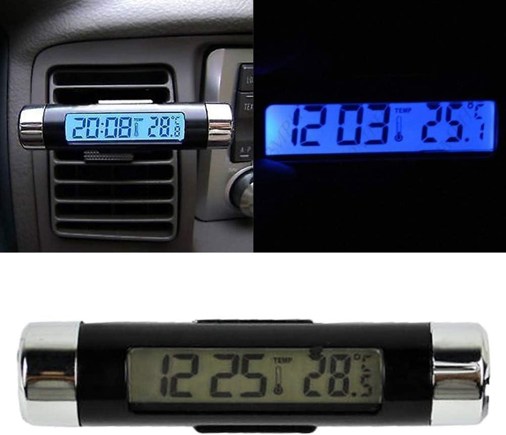 Enticerowts Digitales Thermometer Uhr Auto Luftauslass Lcd Hintergrundbeleuchtung Temperatur Zeit Anzeige Thermometer Digital Uhr 1 Auto