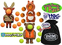 Hog Wild Bear, Moose & Squirrel Poppers Gift Set Battle Bundle with Exclusive Matty's Toy Stop Storage Bag - 3 Pack