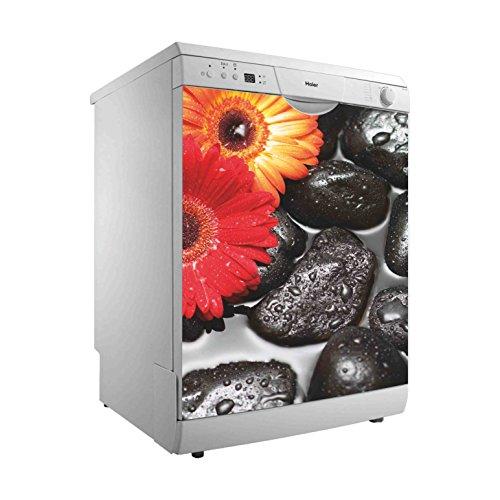 Vinilo para Lavavajillas Margaritas | Varias Medidas 70 x 80 cm | Adhesivo Resistente y de Fácil Aplicación | Pegatina Adhesiva Decorativa de Diseño Elegante