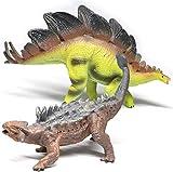 YOOUSOO Dinosaur Toys,2 Pack Jumbo Dinosaur Figure Model Toys Valentines Gift Realistic Looking Jurassic Dinosaur(with Scene Display Box)