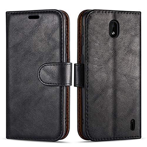 """Case Collection Custodia per Nokia 1 Plus Cover (5,45"""") a Libretto in Pelle di qualità Superiore con Slot per Carte di Credito per Nokia 1 Plus Custodia"""