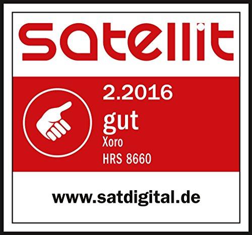 Xoro HRS 8660 digitaler Satelliten-Receiver mit LAN Anschluss (HDTV, DVB-S2, HDMI, SCART, PVR-Ready, USB 2.0) schwarz