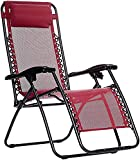 Tip&Top creation Soft Rocking Chair with Cushion, Comfortable Zero Gravity Rocking Relax Adjustable Folding Chair for Balcony, Office, Garden, Farmhouse – Set of 1