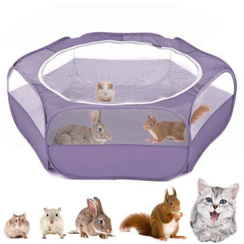 Vavopaw Valla para Mascotas Plegable, Bolsa Almacenamiento Portátil de Animales Pequeños, Tienda Jaulas Transpirable Aire Libre para Indias, Conejos, Hámsters, Chinchillas, Erizos, Gatos - Vio