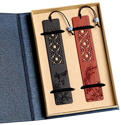 Einzigartige Geschenke - Onelee Handgemachte Natural Holz Lesezeichen - besten Geschenke