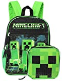 Minecraft Creeper Full Size 16' Backpack and Lunchbox Set