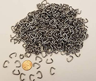 1/2 Galvanized Hog Rings Made in USA for Cages, Traps, Fencing, Sausage Casings, Upholstery and More (475 Count bag-3/4LB)