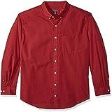 Van Heusen Men's Big and Tall Wrinkle Free Poplin Long Sleeve Button Down Shirt, Rusty Red, XX-Large