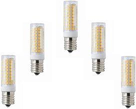Home Led Bulbs Dimmable E17 Socket 5W Lamp Bulb 102LED 2835SMD Light Warm White/Cool White 400-450LM AC 100V-130V 5-Pack L...