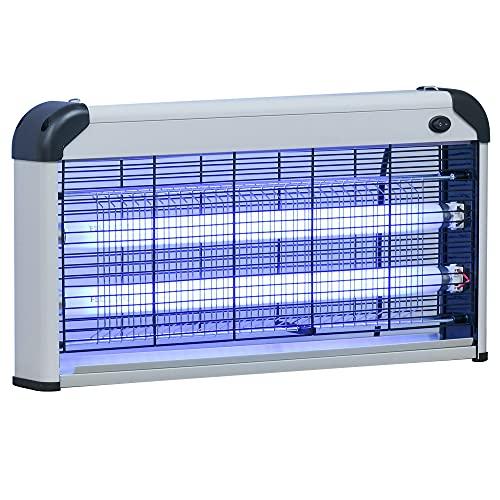 Outsunny Lampe UV Anti-Insectes Anti Moustique Tue Mouche électrique destructeur dinsectes 30 W Noir Gris