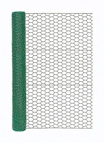 Garden Zone Poultry Netting 36' X 25' Steel Green Vinyl Coated