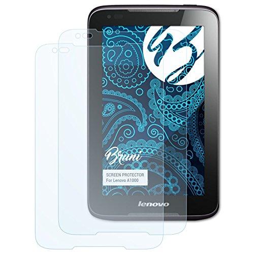 Bruni Schutzfolie kompatibel mit Lenovo A1000 Folie, glasklare Bildschirmschutzfolie (2X)