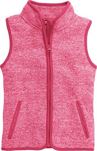 Playshoes Mädchen Strickfleece-weste mit Kontrastnähten, Oeko-tex Standard 100 Weste, Rosa (Pink 18), 104 EU