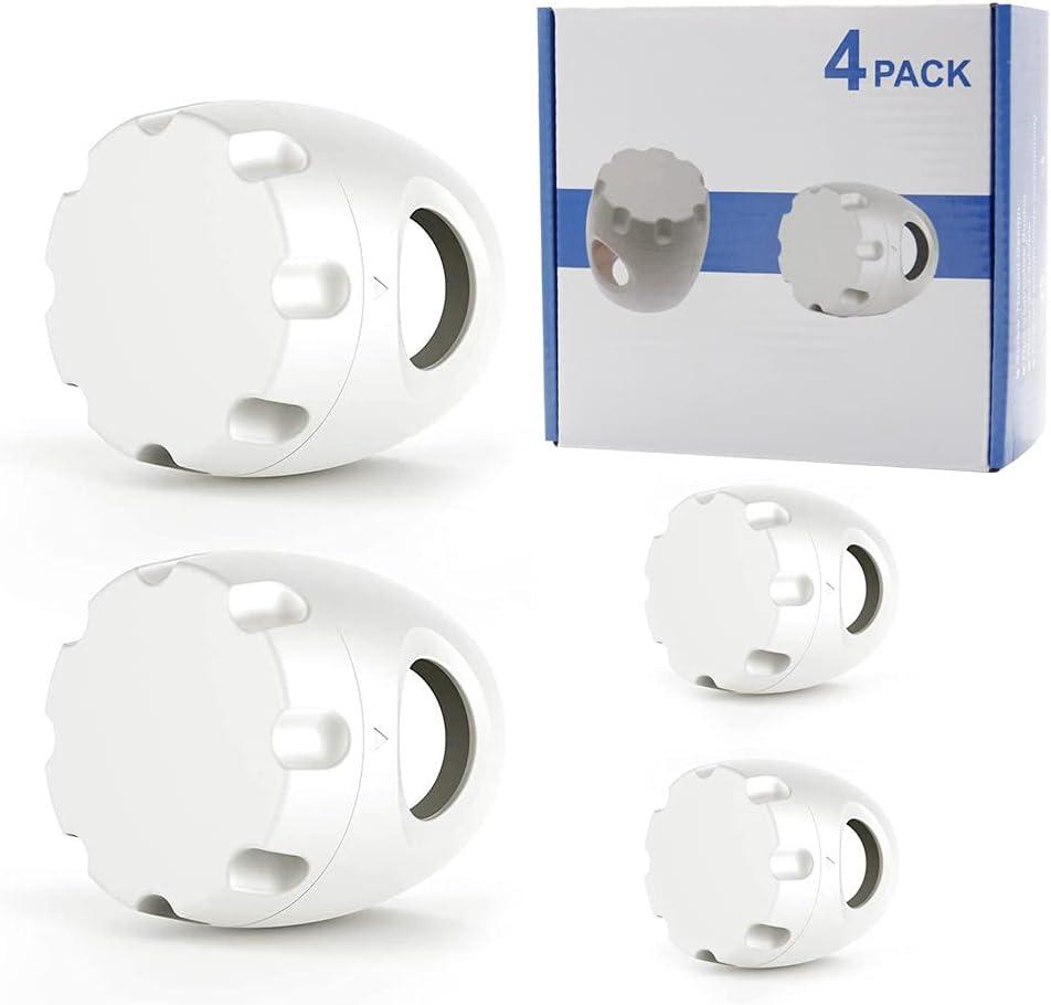 4 Pcs Baby Safety Door Knob Covers Child Door Locks Door Handle Fits Most Doors for Living Room Bedroom Home (White)