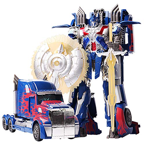 JINGYD Deformed Car Robot Toys, Manuelle Deformation Optimus Prime Automodell Kinderspielzeug