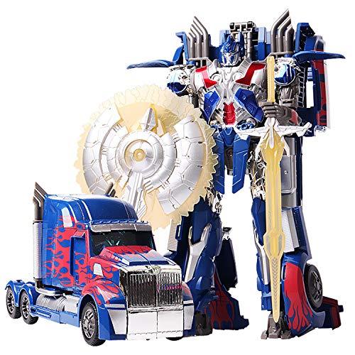 JINGYD Juguetes deformados del Robot del Coche, Juguetes de los niños del Modelo de Coche Optimus Prime de la deformación Manual