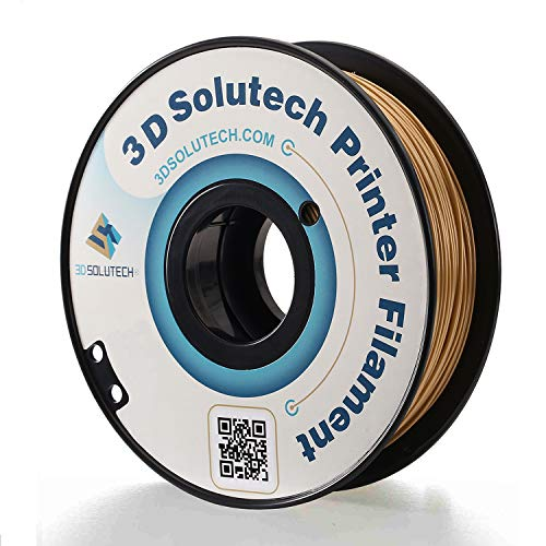 3D Solutech - PLA175RGLD Real Gold 3D Printer PLA Filament 1.75MM Filament, Dimensional Accuracy +/- 0.03 mm, 2.2 LBS (1.0KG)
