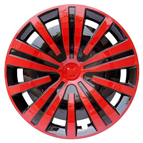 CHICAI Red 4 UNIDS Cubiertas DE LA Rueda Recorte Compatible con Piezas DE MODIFICACIÓN del Coche DE 13/12/15 Pulgadas Piezas de modificación Gratuita Rueda de colocación Enviar Logo de Coche