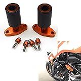 Nueva naranja CNC marco deslizadores protectores protector para KTM DUKE 125 200 390 2012-2017