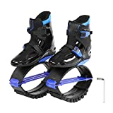 Alomejor Zapatos de Salto + Destornillador Durable, Cuerpo Adelgazante, Zapatos de Canguro, Deporte, Zapatos de Rebote para Mujeres, Hombres, Entrenamiento de Velocidad(39-41-Black Blue)