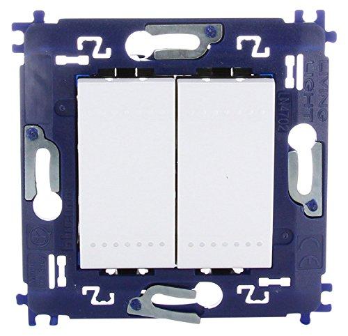 bticino 790040033–Interruptor conmutador doble.