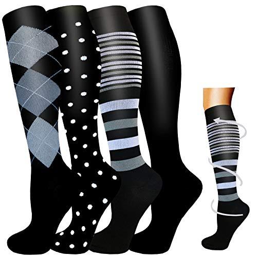 Calcetines graduados de compresión médica para mujeres y hombres-20-30 mmHg es mejor para circulación, correr, atletismo y viajes, embarazo