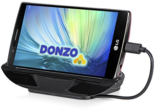 DONZO USB Docking-Station|Ladegerät für Sony Xperia Z3 / Z3+ / Z4 inkl. micro-USB Daten-Kabel Schwarz