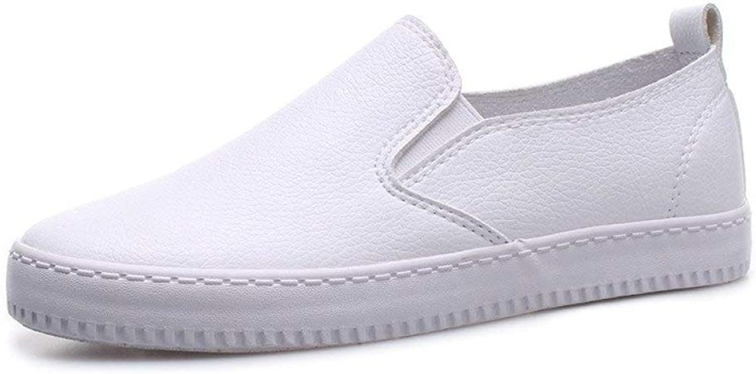 Fay Waters Women's Plain Leather Moccasins Flats Round Toe Slip On Comfort Casual shoes