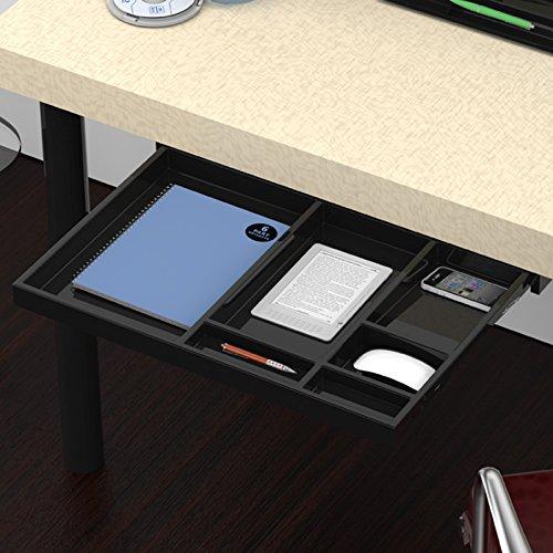 Utensilien-Auszug Schubladenschiene Vollauszug 566 x 390 x 36 mm Schreibtischauszug schwarz von SO-TECH®
